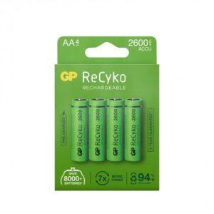 GP ReCyko NiMH laddningsbara AA batterier